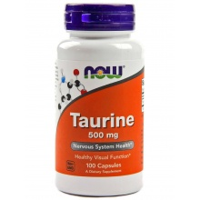 Таурин Now Taurine 500 mg 100 кап